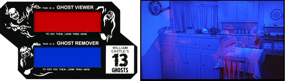 """Using an """"Illusion-O"""" ghost viewer during Castle's film """"13 Ghosts"""""""