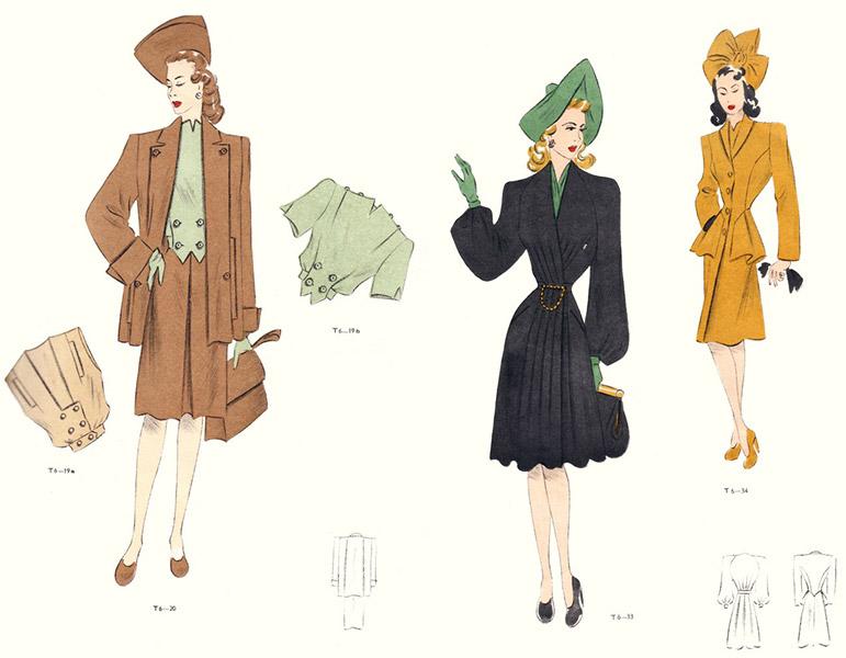 fashion-plates-1946-Tailleur-magazine