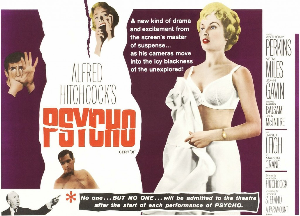 "Marketing for Hitchcock's ""Psycho"" relied on Castle's hype techniques."