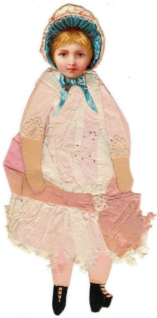A printed doll head on a handmade body. Courtesy Linda Ocasio.