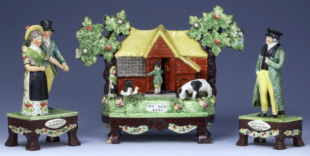A more ominous set of Red Barn figures sold at Bonhams in 2010 for over $18,000. Image via bohams.com.