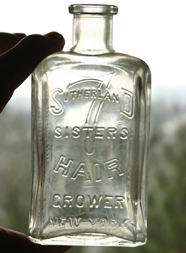 Tami Barber posted her find, a rare Hair Grower bottle, at Bottle Collectors on Facebook. (Via Peachridge Glass)