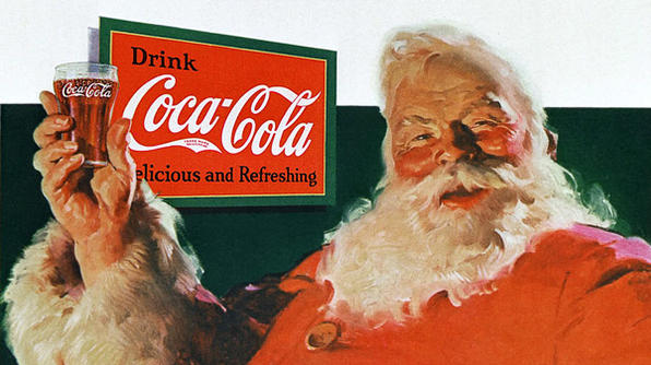 Famous illustrator Haddon Sundblom first painted Santa Claus for Coca-Cola in 1931. His tall, heavy red-suited grandpa set the standard for portraying Santa in the 20th century.
