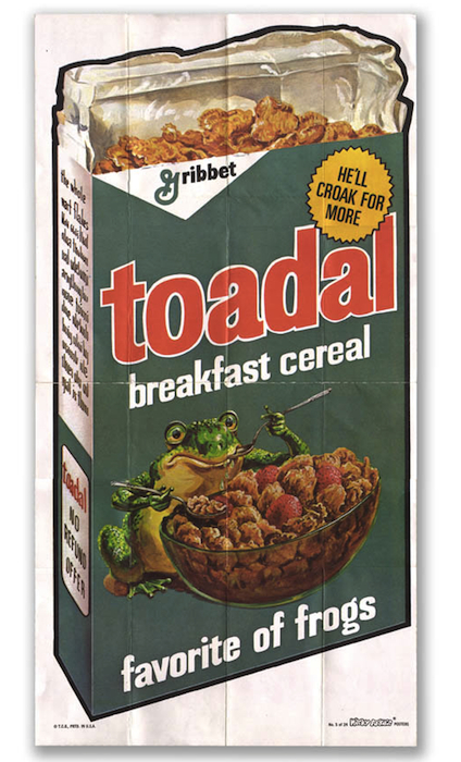 This poster for Toadal is folded, but Schools has one that he got directly from Topps with nary a crease.