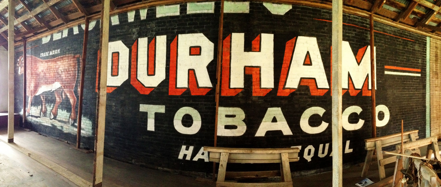 Artisanal advertising reviving the tradition of hand painted signs a well preserved ghost sign for bull durham tobacco from the late 19th century was malvernweather Image collections