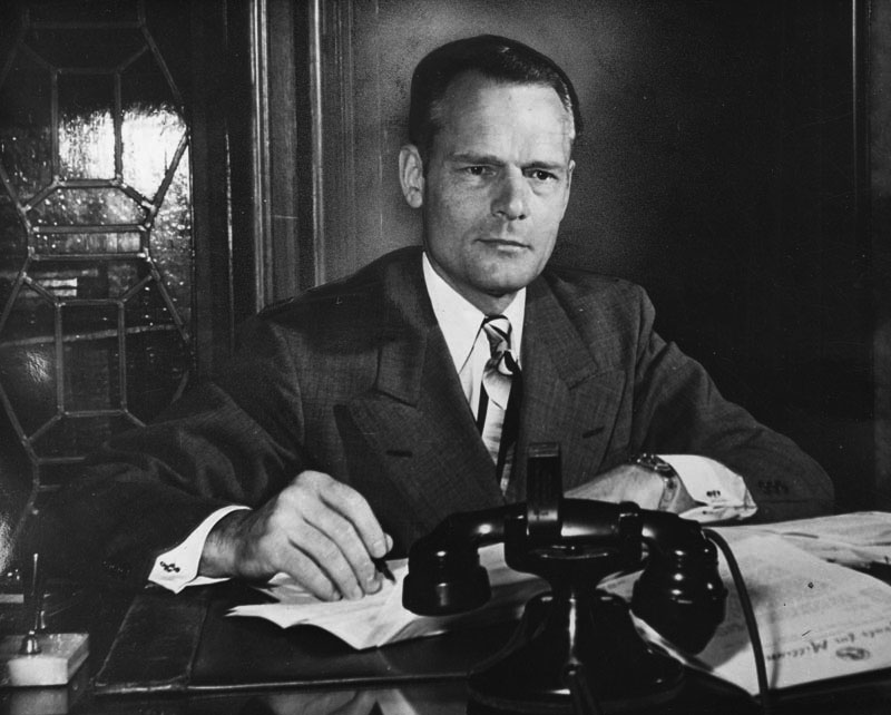 Clifford Clinton in his office, circa 1947.