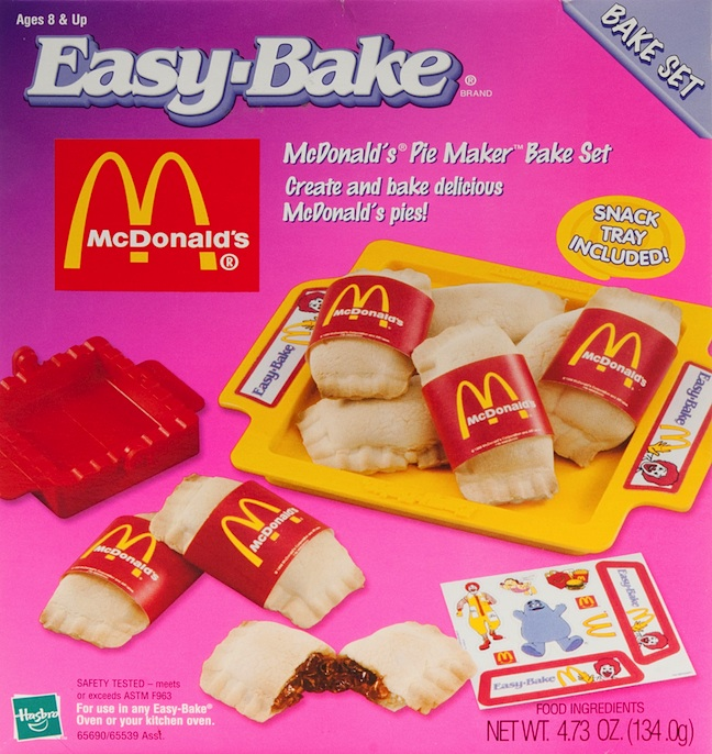 In The 1990s Hasbro Incorporated Co Branding Into Easy Bake Bake Sets