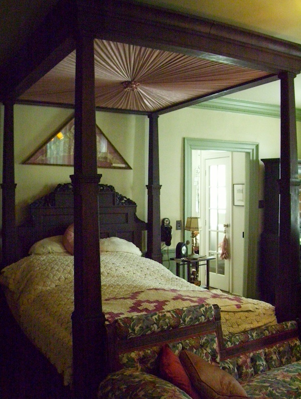 A bed at Haywood Hall, home to John Haywood, a slaveholder who was North Carolina's first treasurer and Raleigh's first intendant of police. (Photo by Arnold Modlin)
