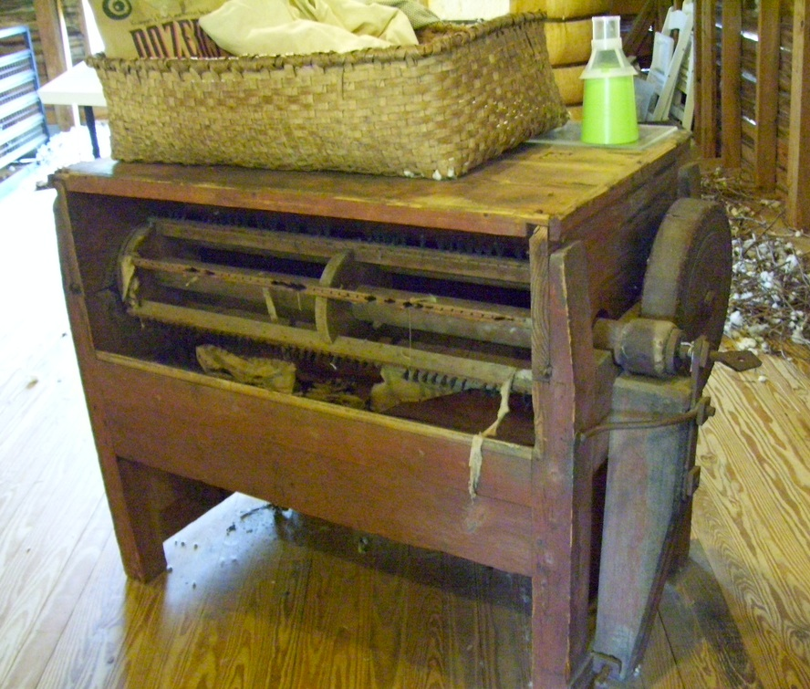 A 50-saw cotton gin at the North Carolina Cotton Museum in Pikeville. (Photo by Arnold Modlin)