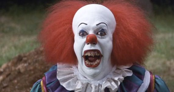 "Pennywise the Dancing Clown in a still from the 1990 TV miniseries, ""It,"" based on the Stephen King horror novel."