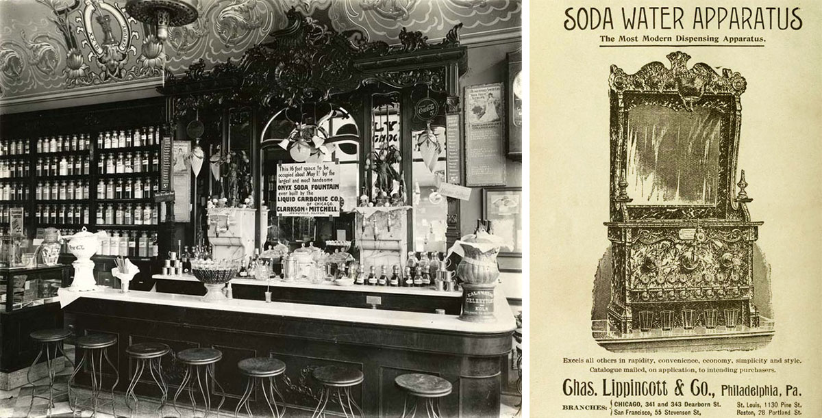 In Their Heyday Soda Fountains Were Elaborately Designed Places For Rejuvenation Left The
