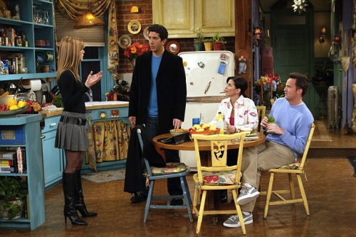 "An International Harvester refrigerator sat in the background on the set of ""Friends."""