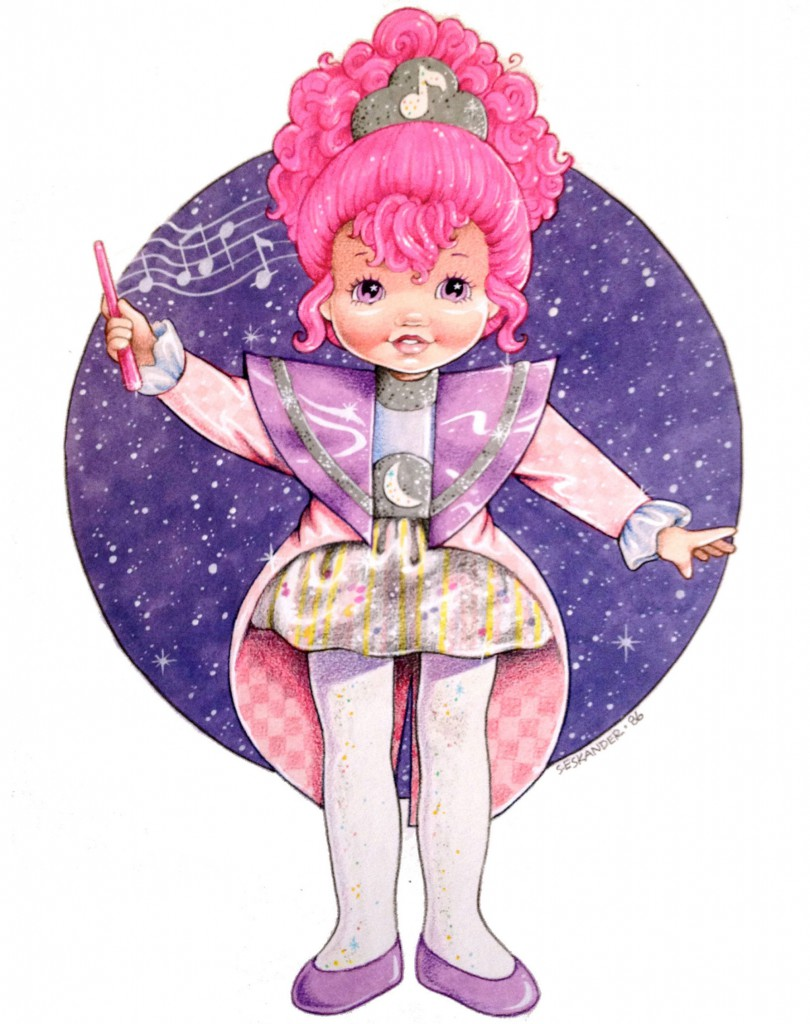 Eskander's rendering of a character for Hasbro's Moondreamers line of small dolls from 1986.