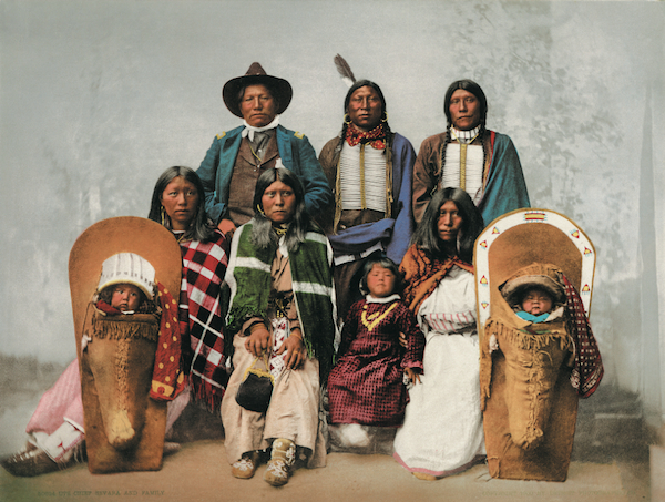 Ute Chief Sevara and his family.