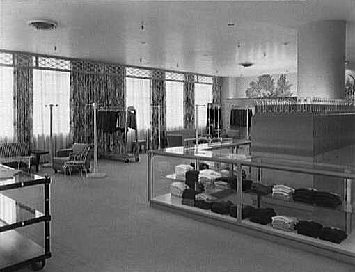 The sports department designed by William Pahlmann in Bonwit Teller in Cleveland, Ohio, in 1951. (Via the Gottscho-Schleisner Collection at the Library of Congress)
