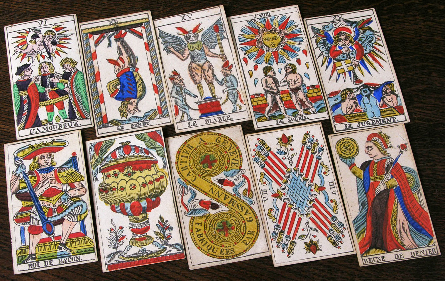 Tarot mythology the surprising origins of the world8217s most top a selection of trump cards top row and pip cards bottom biocorpaavc Choice Image