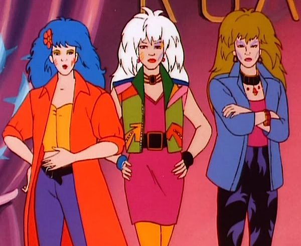 The Misfits (Stormer, Roxy, and Pizzazz) were at the height of 1980s rocker fashions. You could tell they were bad by their face paint.