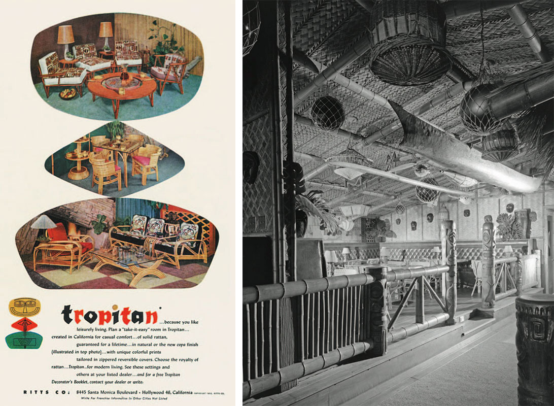 Left, A 1952 Ad For The Ritts Companyu0027s Rattan Furniture Brings The South  Seas Style