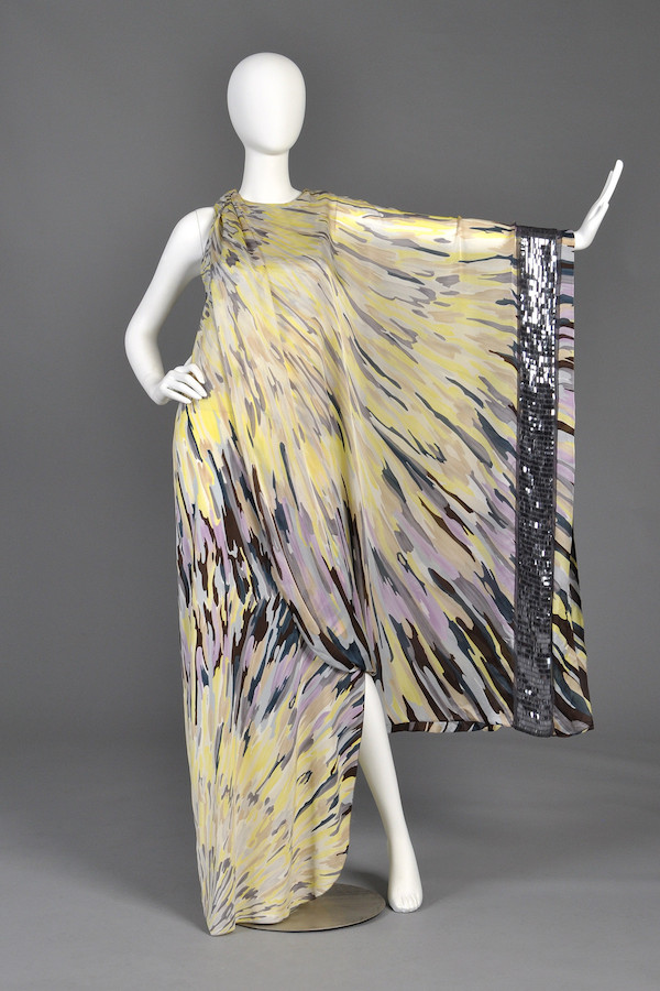 This 2008 Missoni one-armed watercolor silk caftan is on sale at Bustown Modern. (BustownModern.com)