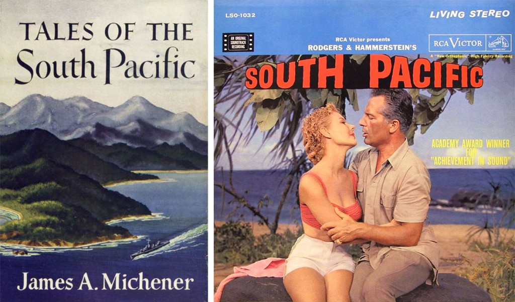 "Michener's ""Tales of the South Pacific"" went from adventure story to generic romance as the book was adapted for the stage and screen."