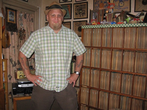 New York City-based collector John Heneghan often shares his 78s on John's Old Time Radio Show, which he hosts with his girlfriend, Eden Brower. Heneghan and Brower also have a country-blues revival band called East River String Band. (Via John's Old Time Radio Show)