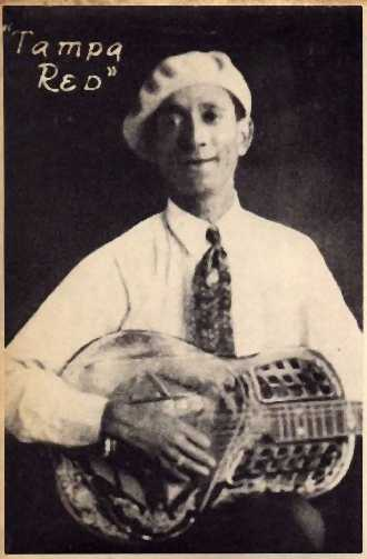 Bluesman Tampa Red got his break when he was hired to accompany Ma Rainey and became popular in the 1930s. (Via John's Old Time Radio Show)