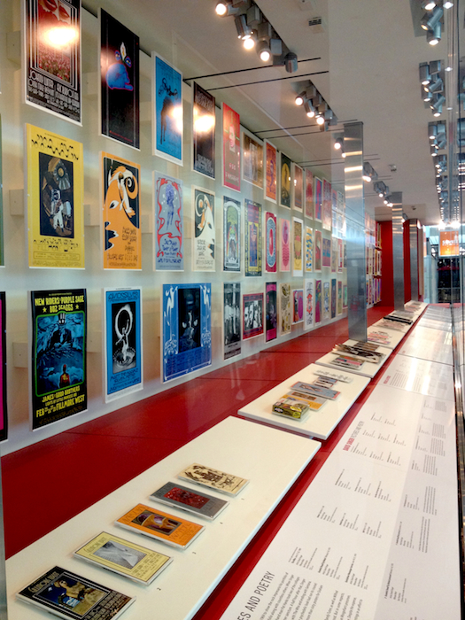 "The David Singer section of ""When Art Rocked,"" on view at SFO through March 2015."