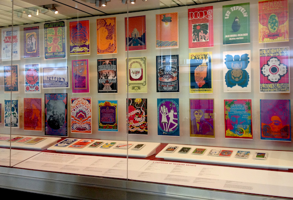 "The posters in ""When Art Rocked"" are organized by artist, theme, and geography. This section deliberately features posters by artists other than the Big Five such as Randy Tuten, Robert Fried, Norman Orr, Greg Irons, and Mari Tepper (work by Wilson, Kelley, Mouse, Moscoso, and Griffin can be found elsewhere in the exhibition)."