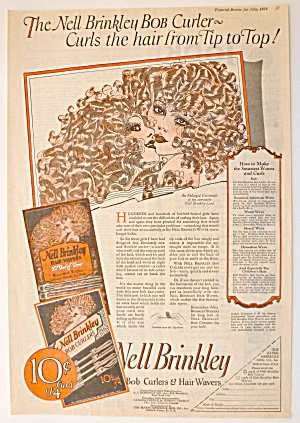 Women who wanted Brinkley Girl curls could buy Nell Brinkley Bob Curlers.