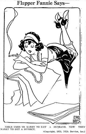 "This 1925 syndicated comic, ""Flapper Fanny"" by Ethel Hays, inspired the cover art of ""Pretty in Ink."" (Via YesterYearsNews.wordpress.com)"