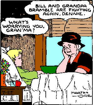 "Martha Orr's ""Apple Mary,"" a comic strip about a big-hearted grandmother who sold apples on the street, is the quintessential Depression cartoon. (Via Don Markstein's Toonpedia)"