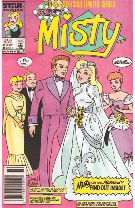 "In the 1986, Robbins drew ""Meet Misty"" part of the industry's attempt to revive comics for girls. (Via ""Pretty in Ink"")"
