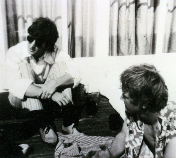 Cousins John Lennon and David Birch at their aunt Mimi's house in 1966.