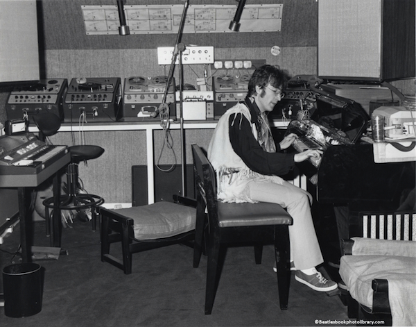 John Lennon in his Kenwood music room—where he gave Birch his Gretsch—in the summer of 1967.