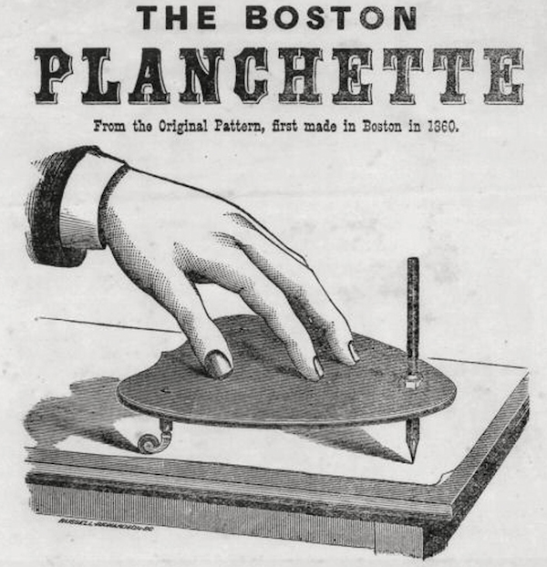 An ad for G.W. Cottrell's Boston Planchette from 1860. (Courtesy of MysteriousPlanchette.com)
