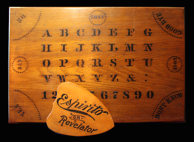The Espirito talking boards, like this 1892 model, were produced for a brief period of time and, therefore, are especially rare now. (Courtesy of MysteriousPlanchette.com)