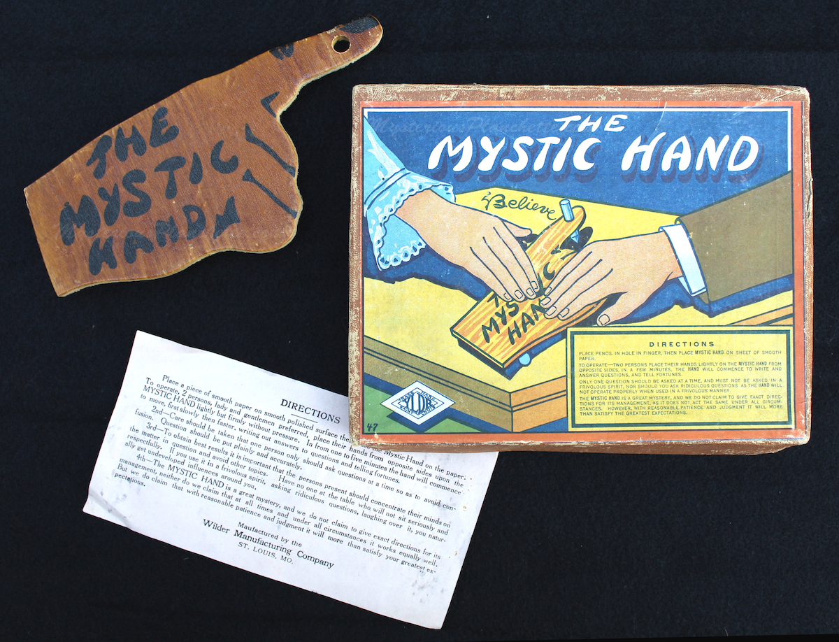 Wilder also made The Mystic Hand writing planchette in the 1920s. (Courtesy of MysteriousPlanchette.com)