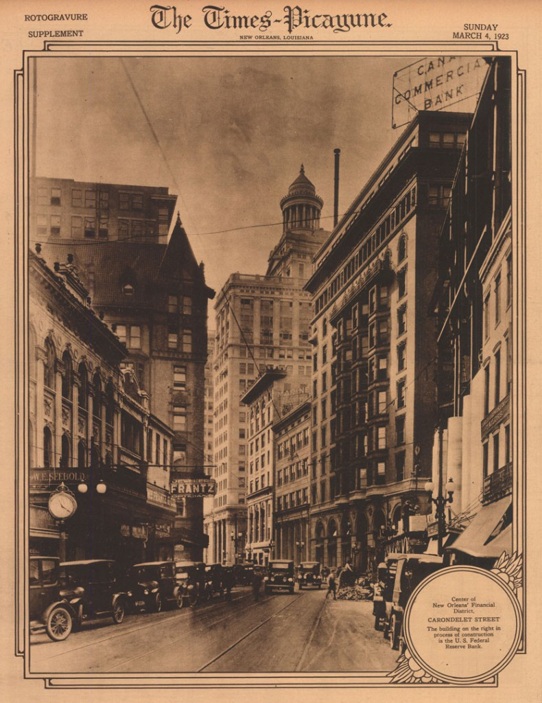 Makkos' collection includes ample coverage of historic New Orleans architecture, like this 1923 view down Carondelet Street.