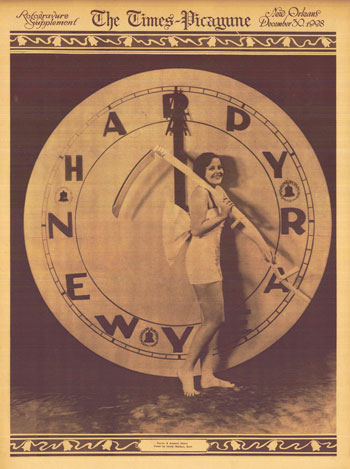 The New Year cover for a rotogravure supplement in 1928.