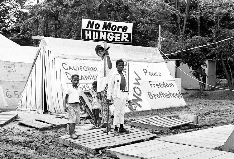 "LeRoy Henderson captured this scene at the Poor People's Encampment, a protest of poverty on the National Mall in Washington, D.C., in the summer of 1968. <a href=""http://www.leroyhenderson.com/Welcome.html"">Courtesy LeRoy Henderson</a>."