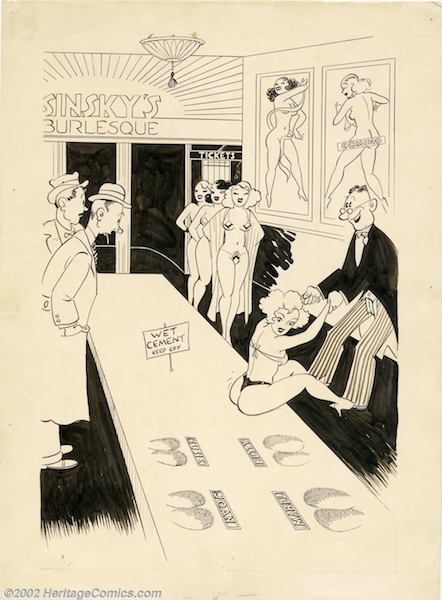 Mantique-edit_Carl Barks - Original Risque Comic Gag (undated)