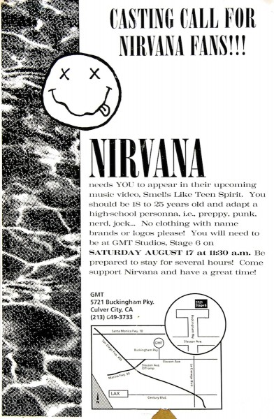 Mantique-edit_nirvana casting flyer for teen spirit video
