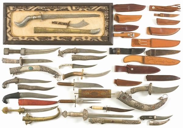 Mantiques_Group of Daggers, Knives and Sheaths_edit