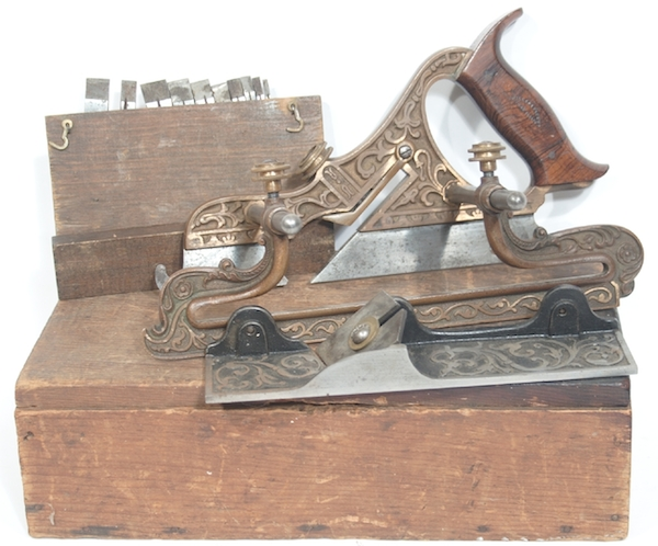 "This Stanley No. 42 Miller's patent plane from 1873, with its original box, sold at auction for $5,280. (Via ""Mantiques"")"
