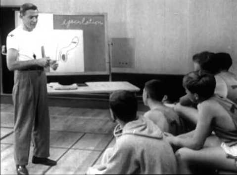 "In 1957's ""As Boys Grow,"" a coach is shown telling the boys in his class how they can expect their bodies to change."