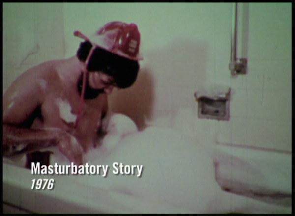 "The country song accompanying the 1976 sex-ed movie, ""Masturbatory Story,"" has lyrics like, ""I reached down in the bubbles and started feeling around, and oh lordy, oh mercy, what I found!"" (Still from ""Sex(Ed): The Movie"")"