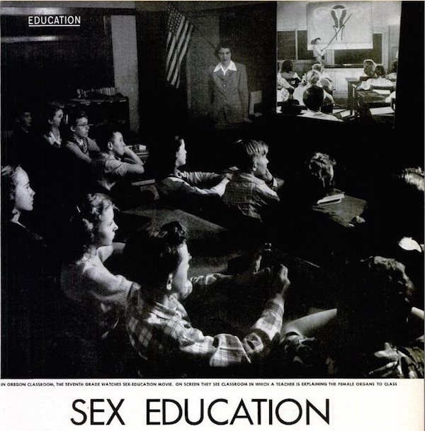 "The spread on sex education in the May 24, 1948 issue of ""LIFE"" showed seventh-grade students watching ""Human Growth"" in Oregon."