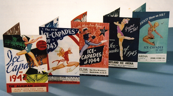 A selection of Roy Blakey's Ice Capades flyers from the 1940s.