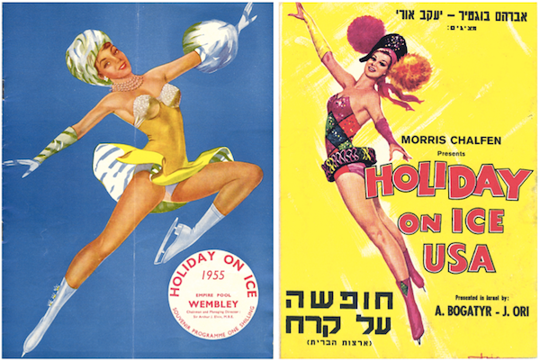 By the 1950s, Holiday on Ice, for whom Blakey skated, was producing ice shows on five continents. These programs are from the U.K. and Israel.