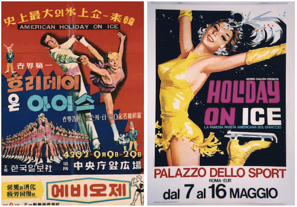 Other international Holiday on Ice posters in Blakey's collection include these from Korea and Italy.